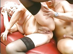 Grandma loves to suck and fuck young cock