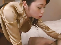 Japanese woman blowjob