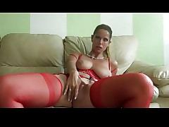 Horny Saggy Milf in Red Lingerie by TROC