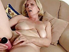 Hairy Mature With Saggy Tits Dildoing by TROC
