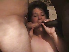mature BBW sucks hubby and BBC